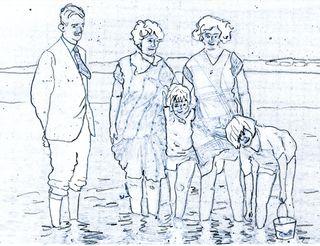 Seaside line drawing